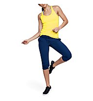 Under Armour HeatGear Armour Racer - top running - donna, Yellow