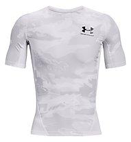 Under Armour UA HG Isochill Comp Print SS - Trainingshirt - Herren, White