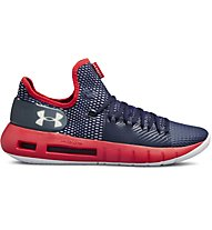 Under Armour UA HOVR HAVOC Low - Basketballschuhe - Herren, Blue/Red