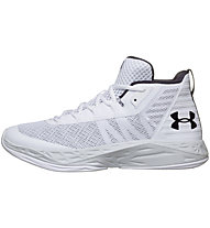 Under Armour UA Jet Mid - Basketballschuhe - Herren, White/Black