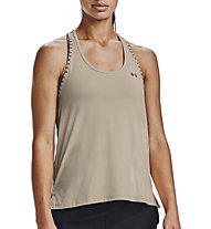 Under Armour Knockout - top fitness - donna, Light Brown