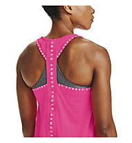 Under Armour Knockout - top fitness - donna, Pink/White