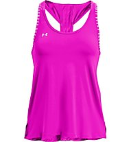 Under Armour Knockout - top fitness - donna, Violet/White