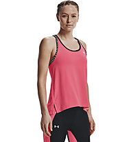 Under Armour Knockout - top fitness - donna, Pink/Black