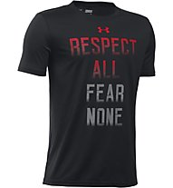 Under Armour UA Fear None T-Shirt fitness bambino, Black