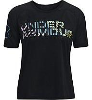 Under Armour UA Mesh Geo Graphic SS - T-Shirt - Damen, Black