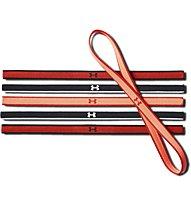 Under Armour UA Mini Headbands (6 pack) - elastici per capelli 6 pezzi, Orange/Black
