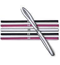Under Armour UA Mini Headbands (6 pack) - Haarbänder 6 Stück, Pink/Black/White