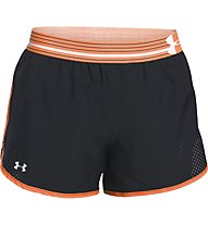 Under Armour UA Perfect Pace Short, Black/Light Orange