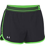 Under Armour UA Perfect Pace Short, Black/Light Green