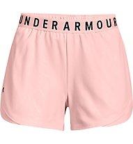 Under Armour UA Play Up SHRT Emboss 3.0 - pantaloni corti fitness - donna, Rose