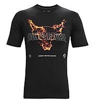 Under Armour UA Project Rock Fire SS - T-Shirt - Herren , Black