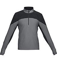 Under Armour Qualifier ½ Zip - maglia running - uomo, Grey/Black