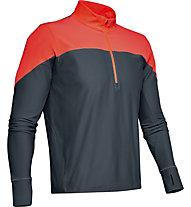 Under Armour Qualifier ½ Zip - maglia running - uomo, Orange/Dark Grey