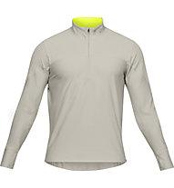 Under Armour Qualifier ½ Zip - maglia running - uomo, Beige