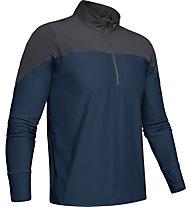 Under Armour Qualifier ½ Zip - maglia running - uomo, Dark Grey/Blue