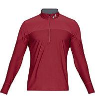 Under Armour Qualifier ½ Zip - maglia running - uomo, Red