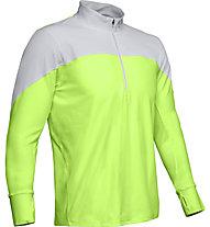Under Armour Qualifier ½ Zip - maglia running - uomo, Grey/Green