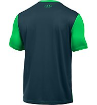 Under Armour UA Raid T-shirt running, Green/Blue