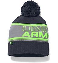 Under Armour UA Retro Pom Beanie, Grey