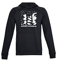 Under Armour Rival Fleece Box Logo Hoodie - Kapuzenpullover - Herren, Black