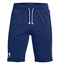 Under Armour UA Rival Terry SHRT - pantaloni corti fitness - uomo, Dark Blue