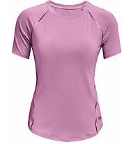 Under Armour UA Rush Scallop SS - Trainingshirt - Damen, Pink