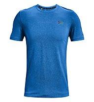 Under Armour UA Rush Seamless SS - T-shirt fitness - uomo, Blue