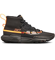 Under Armour UA SC 3ZER0 II - scarpe da basket - uomo, Black/Orange