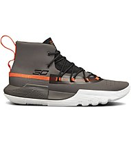 Under Armour UA SC 3ZER0 II - scarpe da basket - uomo, Grey/Orange