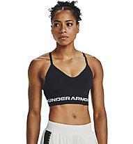 Under Armour UA Seamless Low Long Bra - Sport-BH - Damen, Black/White