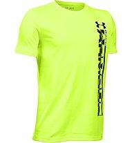Under Armour UA Sideline Logo T-Shirt fitness ragazzo, Green