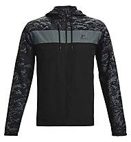 Under Armour UA Sportstyle Camo WNDBKR - Kapuzenjacke - Herren, Black/Grey