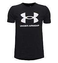 Under Armour UA Sportsyle Logo SS - T-shirt - Kinder, Black