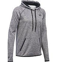 Under Armour UA Storm Armour Fleece Icon Twist Felpa con cappuccio fitness donna, Grey/Black