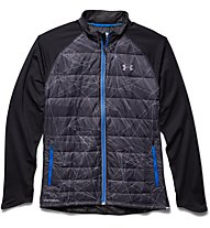 Under Armour UA Storm Coldgear Infrared Hybrid Jacket giacca running ibrida, Black/Red/Steel