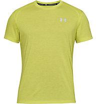Under Armour UA Stracker 2.0 - maglia running - uomo, Light Yellow