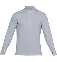 Under Armour Streaker 2.0 - maglia con zip running - uomo, Light Grey