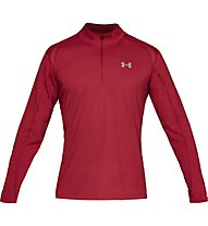 Under Armour Streaker 2.0 - maglia con zip running - uomo, Dark Red