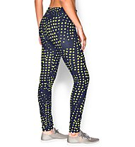 Under Armour UA Studio Printed Legging Donna, Navy/Light Green