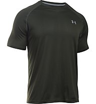 Under Armour UA Tech Kurzarm-Shirt Herren, Artillery Green