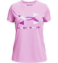 Under Armour UA Tech Graphic Big Logo SS - T-shirt - Kinder, Pink