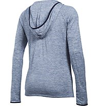 Under Armour UA Tech Henley Felpa con cappuccio fitness donna, Blue