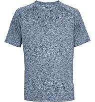 Under Armour UA Tech SS Tee - T-Shirt - Herren, Dark Blue Melange