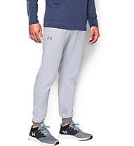 Under Armour UA Tricot Pantaloni lunghi fitness, Air Force Grey