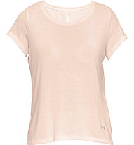 Under Armour Whisperlight SS Folder - T-shirt fitness - donna, Light Orange