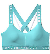 Under Armour UA Wordmark Strappy Sportlette (Cup B) - reggiseno sportivo supporto leggero, Azure