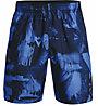 Under Armour UA Woven Adapt S - pantaloni corti fitness - uomo, Blue/Black