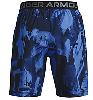 Under Armour UA Woven Adapt S - Trainingshort - Herren, Dark Blue/Light Blue
