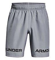 Under Armour UA Woven Graphic WM SRT - pantaloni corti fitness - uomo, Light Grey/Black